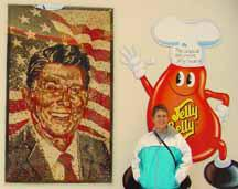 Diana and Jelly Belly portrait of Ronald Reagan